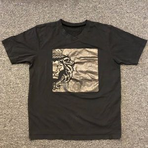 Used 100% Cotton-made Graphic Tee Glittering Black